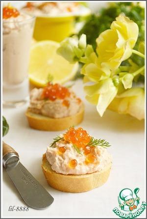 Готовим вкусный рецепт приготовления с фотографиями Рыбный паштет с креветками и икрой