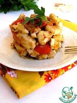 Куриное филе с помидорами черри и базиликом домашний рецепт приготовления с фото пошагово готовим