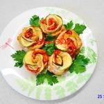 Горячее блюдо Куриные розочки