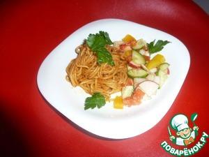 Паста в томатно-соевом соусе пошаговый рецепт с фото готовим