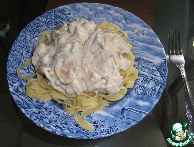 Салат нежность курица с грибами
