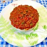 Паштет из белой фасоли с томатным соусом