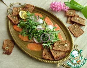 Карпаччо из лосося с зеленым салатом домашний рецепт с фотографиями пошагово готовим