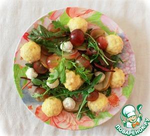 Салат с тёплыми куриными фрикадельками домашний рецепт с фото пошагово как приготовить