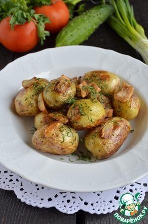 Рецепт Молодой картофель с салом в мультиварке
