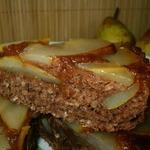 Грушево-карамельный пирог с добавлением овсяных хлопьев