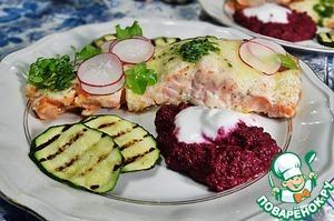 Нежный лосось под сырной корочкой вкусный пошаговый рецепт с фотографиями