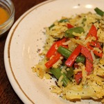 Бириани с овощами и соусом карри