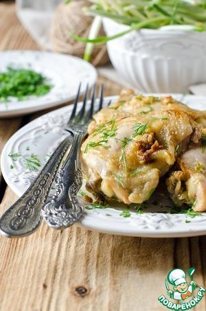 Курица в кефире с черемшой в мультиварке простой рецепт с фото пошагово как приготовить