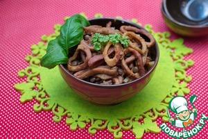 Готовим Кальмары с чечевицей вкусный рецепт приготовления с фотографиями