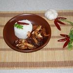 Креветки с арахисом и кунжутом
