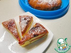 Влажный пирог с айвой (в мультиварке и в духовке)