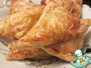 Рецепт Слоеные пирожки с картошкой и зеленью