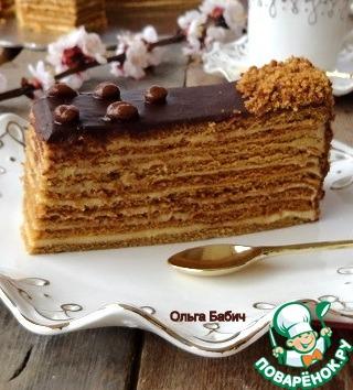 Кофейный торт как медовик