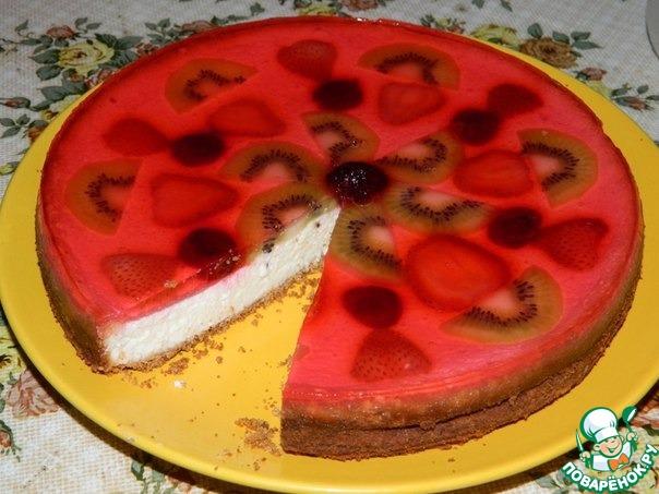 пирог с желейной заливкой фото рецепт