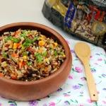 Цветной рис, жаренный с овощами