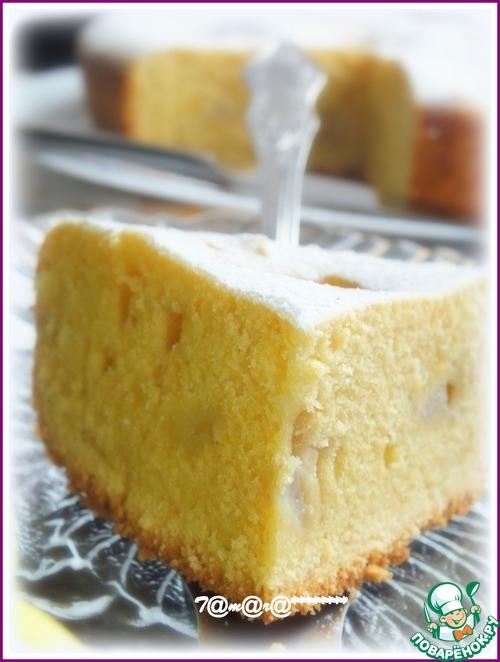 Грушевый пирог на желтках – кулинарный рецепт