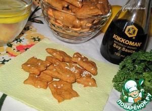 Простой рецепт с фотографиями Крекеры с кунжутом и паприкой