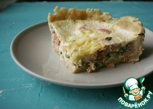 Как приготовить Пирог с копченой форелью и зеленым луком рецепт с фотографиями