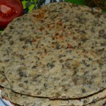 Бесан роти-хлеб с чечевицей по индийским мотивам