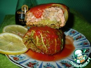 Голубцы с форелью в томатном соке вкусный рецепт приготовления с фотографиями