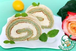Готовим Мятное пирожное с лимонным курдом простой рецепт с фотографиями пошагово