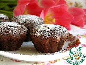Шоколадно-черничные кексы вкусный пошаговый рецепт с фото