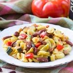 Домашняя паста орекьетте с рагу из овощей и фасоли