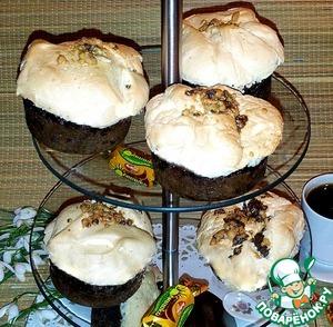 Готовим домашний рецепт с фото Кофейное пирожное с черничным джемом