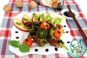 Готовим Теплый мятный салат из брокколи с яблоком вкусный рецепт с фотографиями
