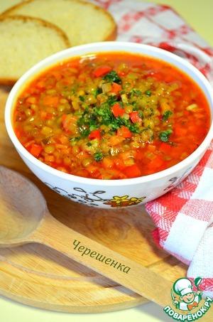Готовим Постный суп с чечевицей