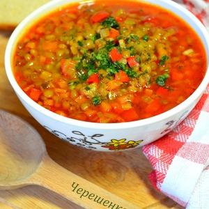 : Постный суп из чечевицы