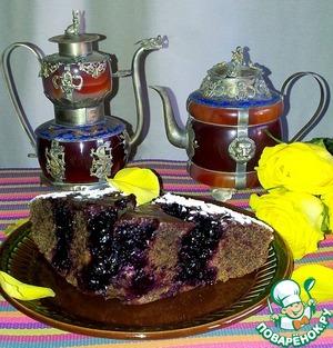 Постный кофейный пирог с черной смородиной вкусный пошаговый рецепт приготовления с фото