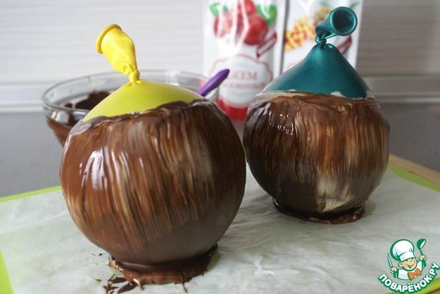 Как приготовить шоколадный шар