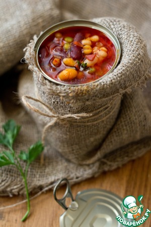 Суп из смеси бобовых с беконом и томатом вкусный рецепт с фотографиями