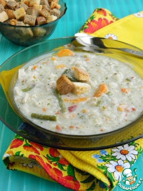 сливочный суп с курицей вкусный рецепт