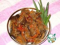 Кади ча или Баклажаны по корейски ингредиенты