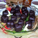 Шоколадно-ореховые конфеты с мармеладом