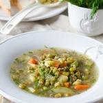 Постный суп с машем и овощами в мультиварке