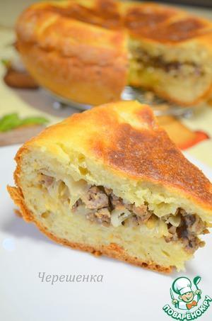 пирог с капустой на кефире в мультиварке рецепты с фото