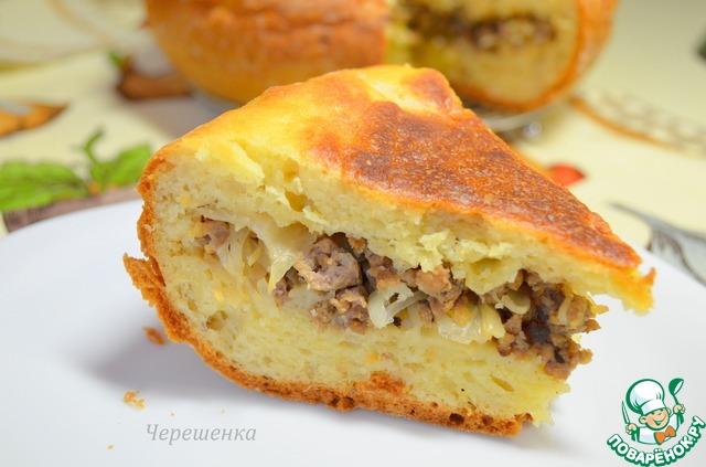 Пирог в мультиварке с мясом рецепт с