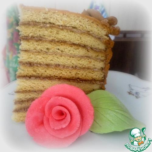 """Торт """"Корзина роз"""" – кулинарный рецепт"""
