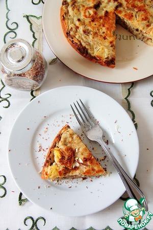 Готовим Наливной пирог c индейкой и луком-порей простой рецепт с фото пошагово