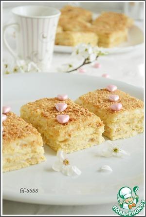 Рецепт Нежное пирожное с карамельным кремом