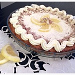 Хрустящий кокосовый тарт с лимоном
