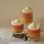 Десерт с грейпфрутовым (цитрусовым) желе и творожным кремом