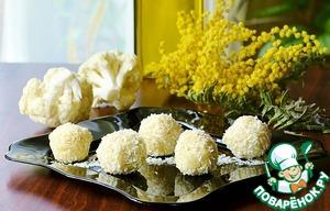 Рецепт Конфеты Рафаэлло из цветной капусты и белого шоколада