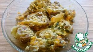 Рецепт Гусарики в горшочках в сметанно-грибном соусе
