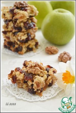 Рецепт Клюквенно-яблочное печенье