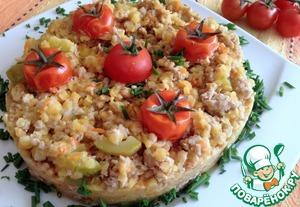 Вкусный рецепт с фото Чечевица с фаршем и кабачками